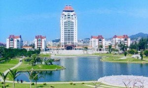 The campus at Xiamen University