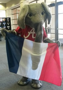 Big Al with French Flag