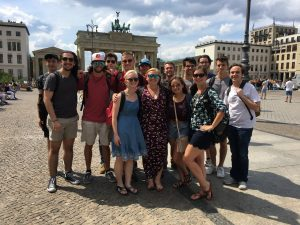 UA in Germany 2018 Students at the Brandenburg Gate