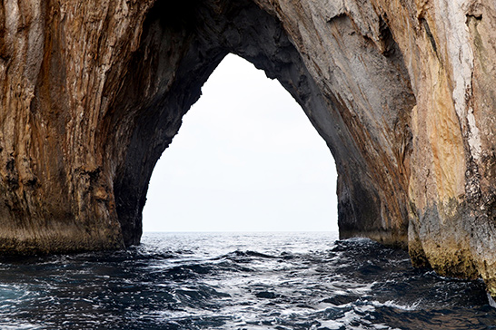 a natural 'tunnel' through a large rock