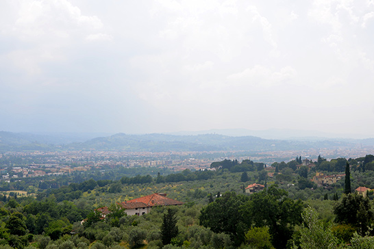 the Italian countryside, seen from a mountain