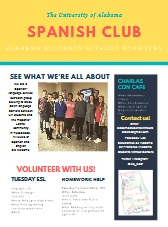 Spanish club flyer