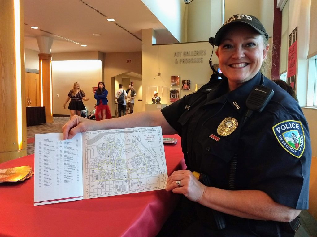 security officer holding a map