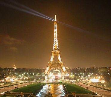 the famous Eiffel Tower in Paris, France