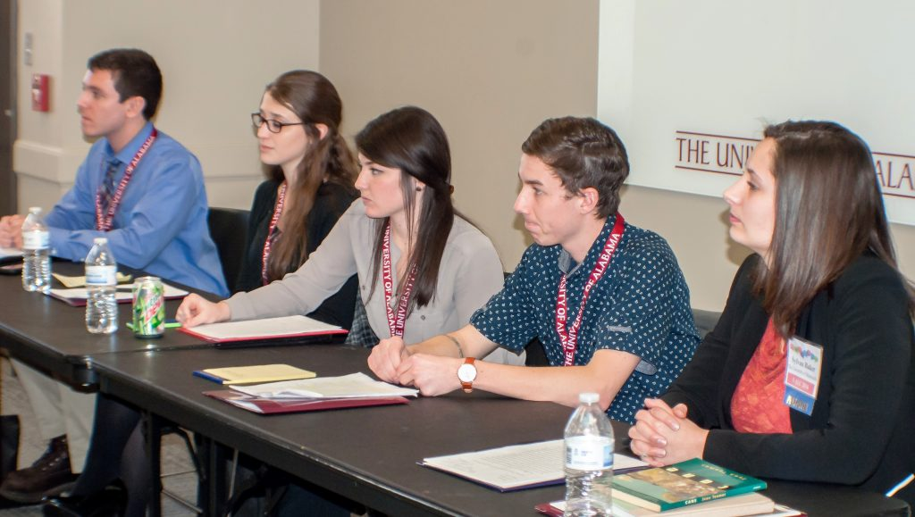 students on panel