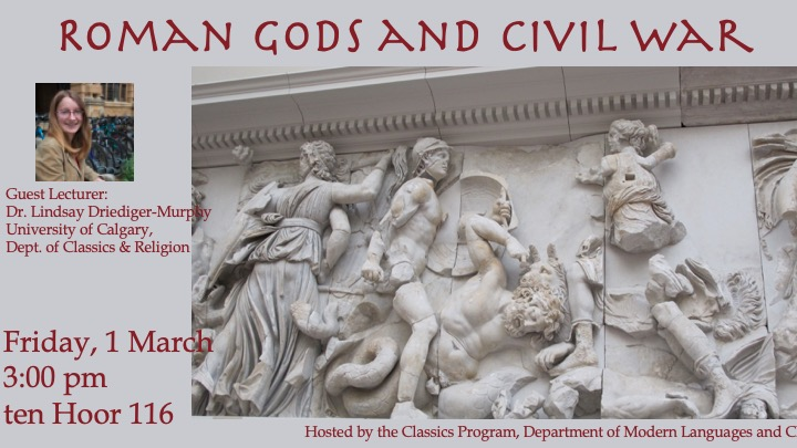 Roman Gods and Civil War flyer