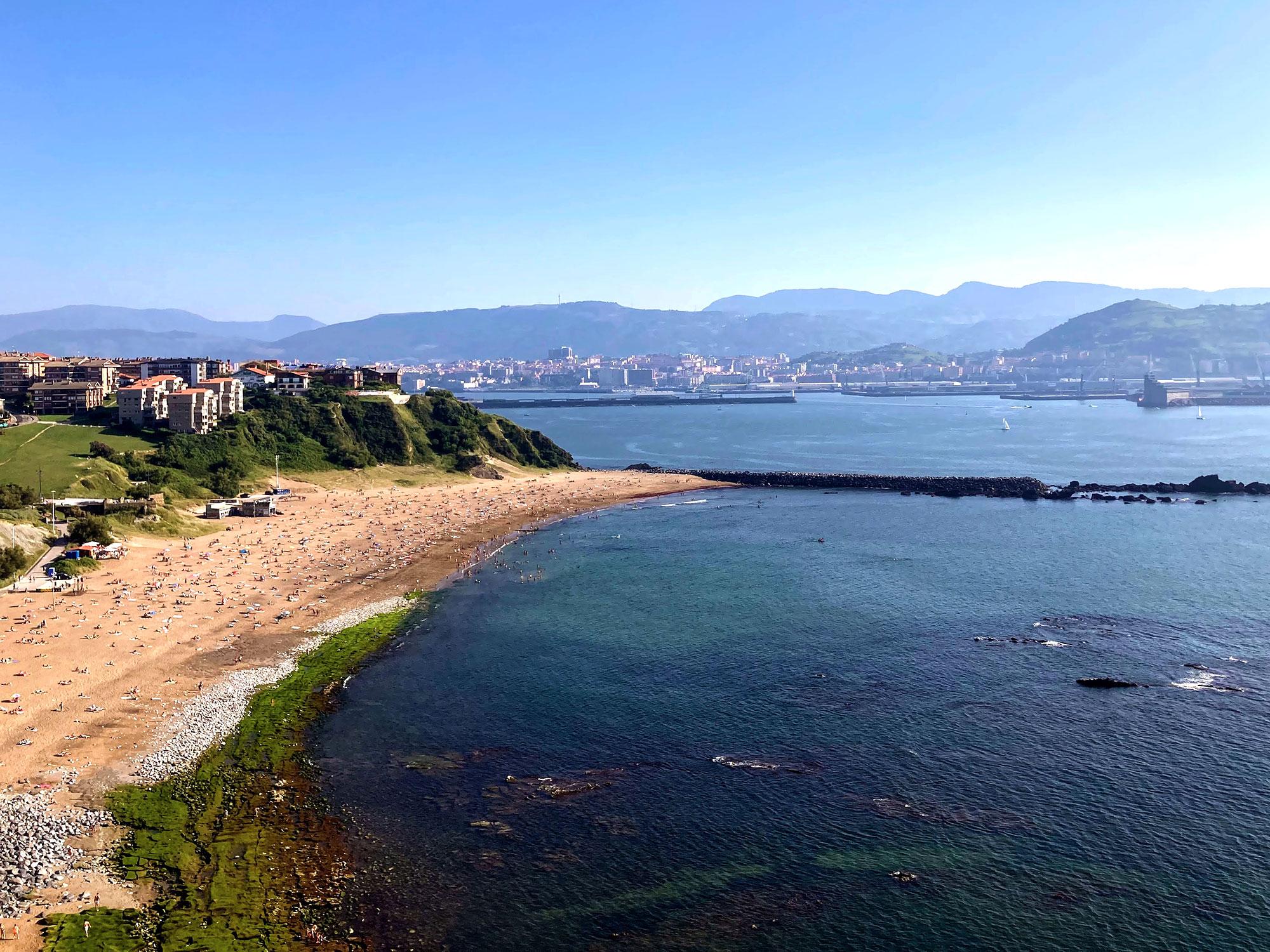 a coastline in Spain