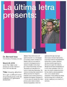 Dr. Bernard Issa flyer