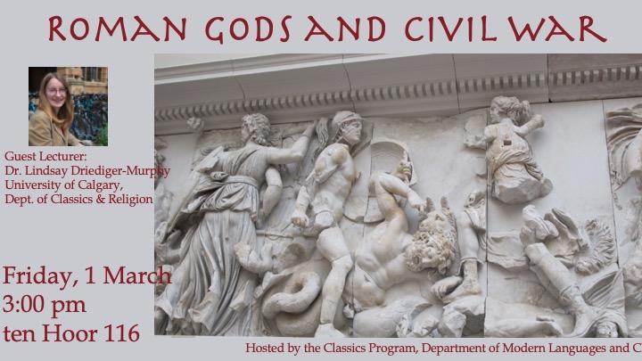 Roman Gods and Civil War flyer