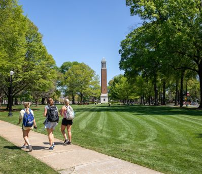 students walking on the Quad